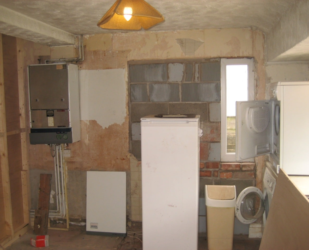New kitchen alterations sale south manchester for Kitchen back door with window