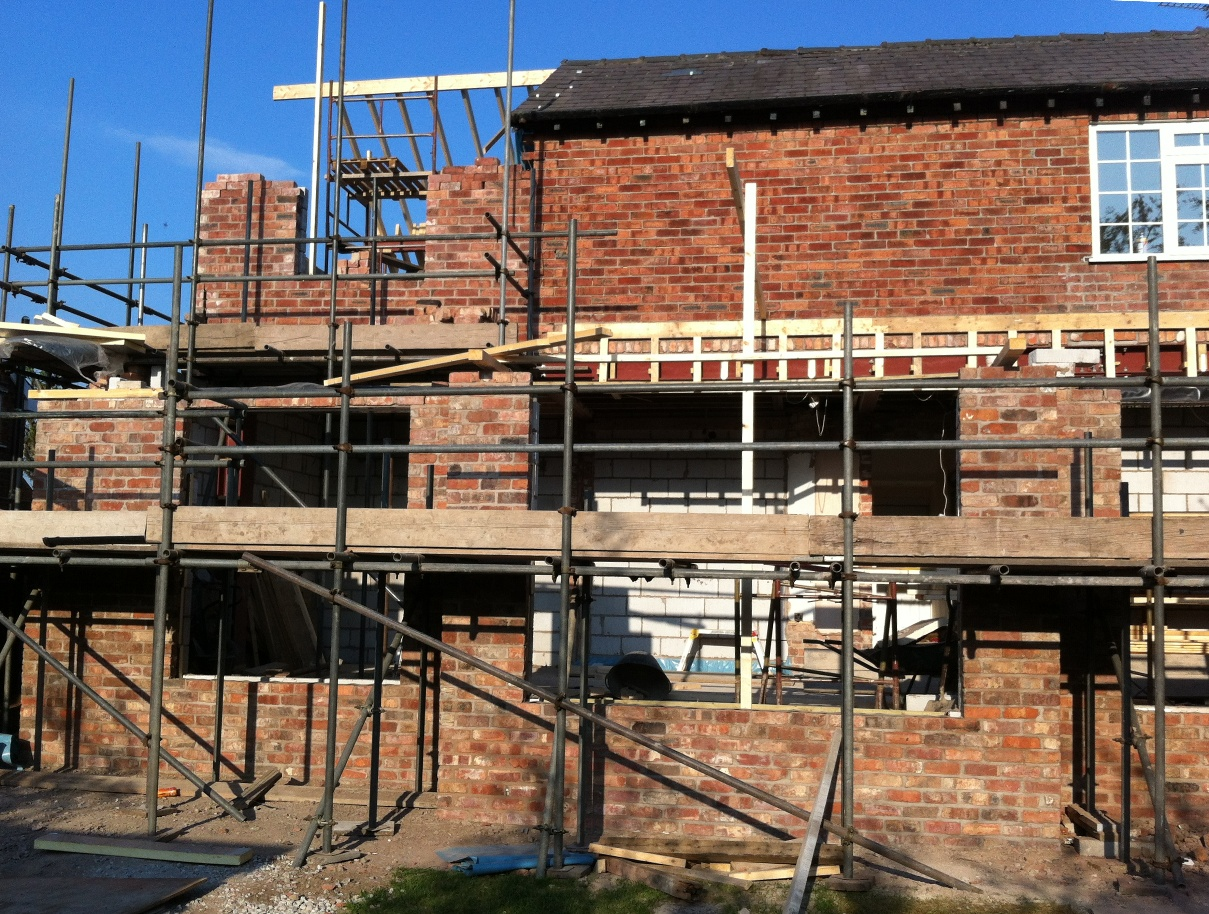 Extension Progress View From Rear Transforming Homes For