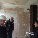 Ged in discussions with Client & Architect at monthly site meetings