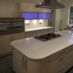 Finished kitchen with fitted hob to central granite topped island