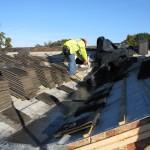 Builder tiling extended roof