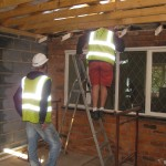 Extension to bacl of propert showing ceiling joists
