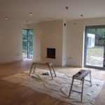 Final fix joinery to rear extension lounge & dining room