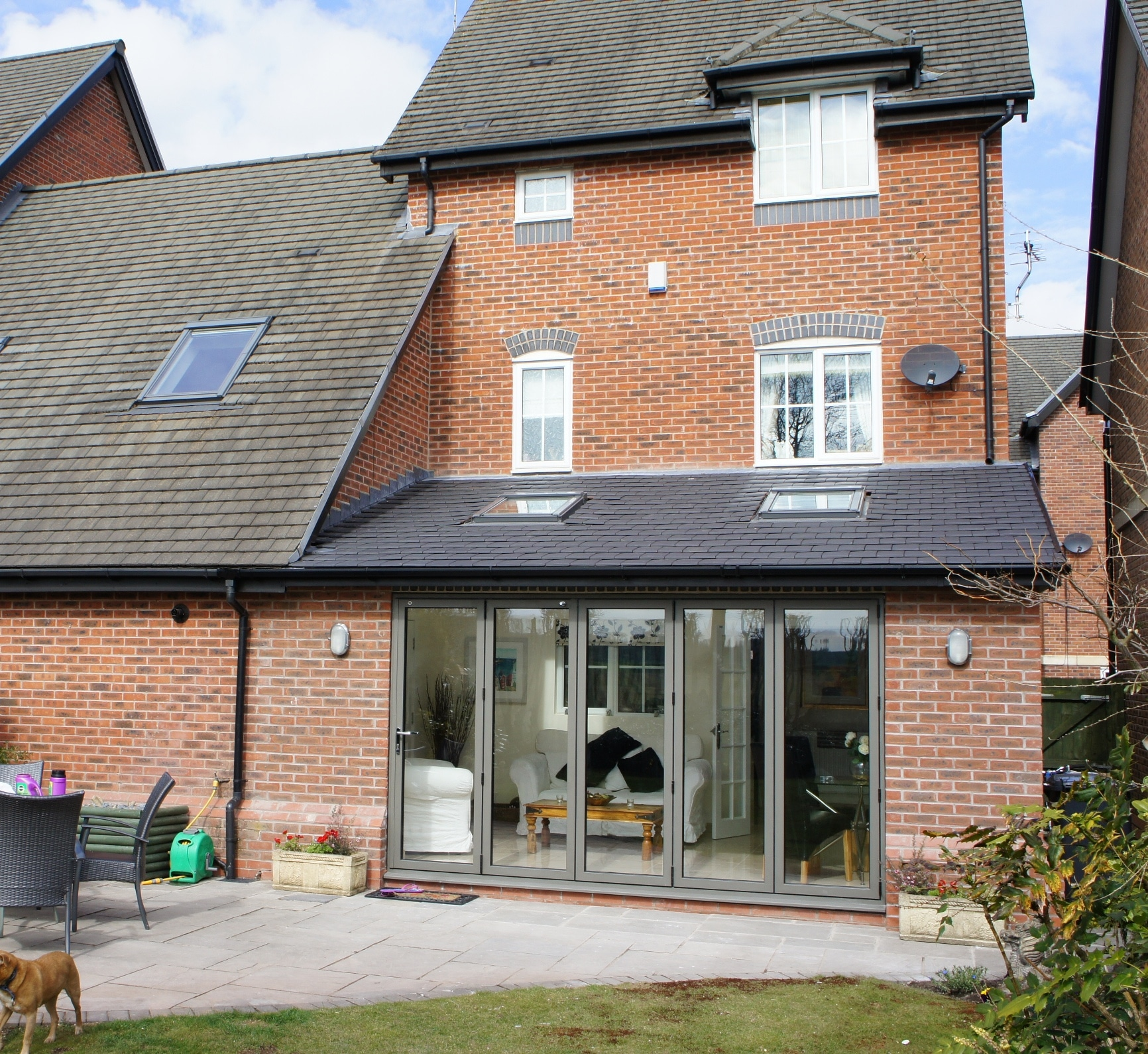 House Extension Single Storey With Bi-fold Doors & Velux