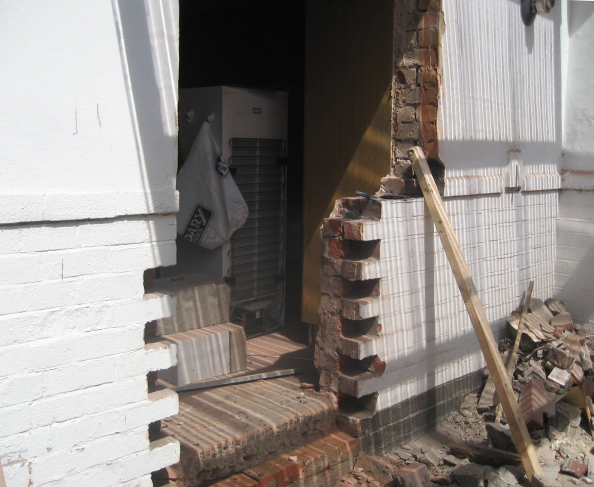 New kitchen alterations sale south manchester for Back door with opening window