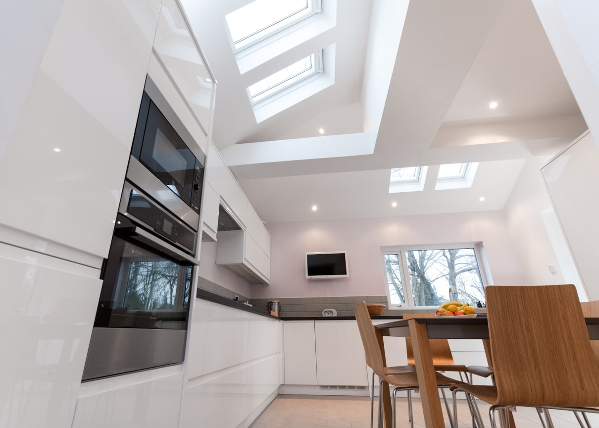 flat garage roof ideas - Kitchen extension to form larger kitchen & dining area